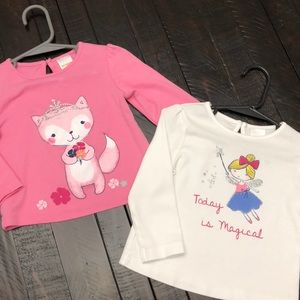 Set of 2 Gymboree Long Sleeve Tees - 18-24 month